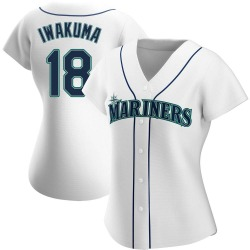 Hisashi Iwakuma Seattle Mariners Women's Authentic Home Jersey - White