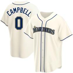 Isaiah Campbell Seattle Mariners Men's Replica Alternate Jersey - Cream