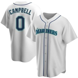 Isaiah Campbell Seattle Mariners Men's Replica Home Jersey - White