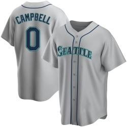 Isaiah Campbell Seattle Mariners Men's Replica Road Jersey - Gray