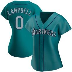 Isaiah Campbell Seattle Mariners Women's Replica Alternate Jersey - Aqua