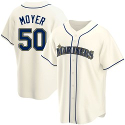 Jamie Moyer Seattle Mariners Men's Replica Alternate Jersey - Cream