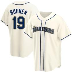 Jay Buhner Seattle Mariners Men's Replica Alternate Jersey - Cream
