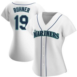 Jay Buhner Seattle Mariners Women's Authentic Home Jersey - White
