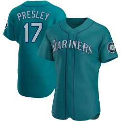 Jim Presley Seattle Mariners Men's Authentic Alternate Jersey - Aqua