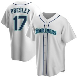 Jim Presley Seattle Mariners Men's Replica Home Jersey - White