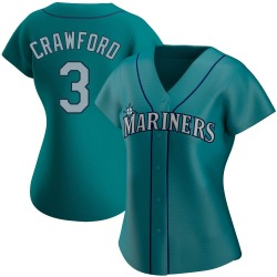 J.P. Crawford Seattle Mariners Women's Authentic Alternate Jersey - Aqua