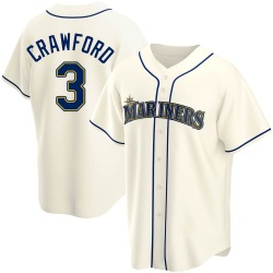 J.P. Crawford Seattle Mariners Youth Replica Alternate Jersey - Cream