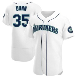 Justin Dunn Seattle Mariners Men's Authentic Home Jersey - White