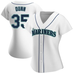 Justin Dunn Seattle Mariners Women's Replica Home Jersey - White