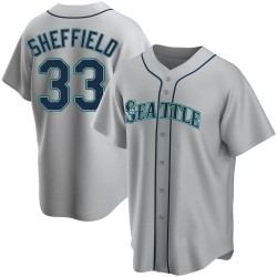 Justus Sheffield Seattle Mariners Youth Replica Road Jersey - Gray
