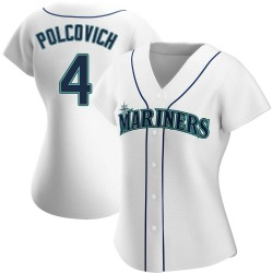 Kaden Polcovich Seattle Mariners Women's Authentic Home Jersey - White