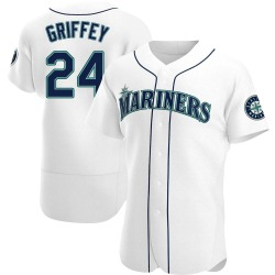 Ken Griffey Seattle Mariners Men's Authentic Home Jersey - White