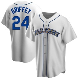Ken Griffey Seattle Mariners Men's Replica Home Cooperstown Collection Jersey - White