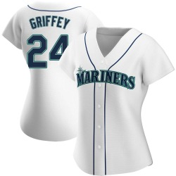 Ken Griffey Seattle Mariners Women's Authentic Home Jersey - White