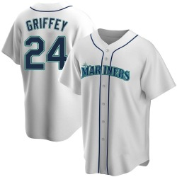 Ken Griffey Seattle Mariners Youth Replica Home Jersey - White