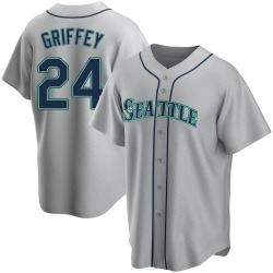 Ken Griffey Seattle Mariners Youth Replica Road Jersey - Gray