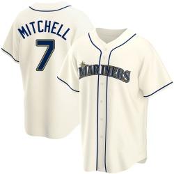 Kevin Mitchell Seattle Mariners Men's Replica Alternate Jersey - Cream