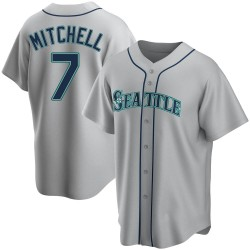 Kevin Mitchell Seattle Mariners Men's Replica Road Jersey - Gray