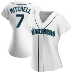 Kevin Mitchell Seattle Mariners Women's Authentic Home Jersey - White