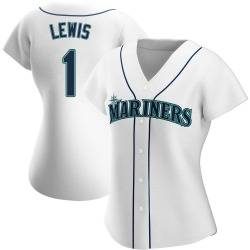 Kyle Lewis Seattle Mariners Women's Authentic Home Jersey - White