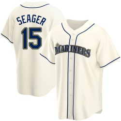 Kyle Seager Seattle Mariners Men's Replica Alternate Jersey - Cream