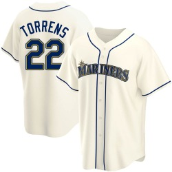 Luis Torrens Seattle Mariners Youth Replica Alternate Jersey - Cream