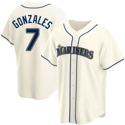 Marco Gonzales Seattle Mariners Men's Replica Alternate Jersey - Cream
