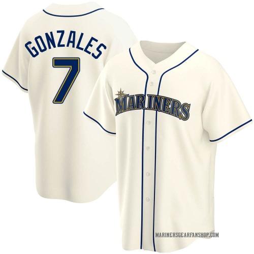 Marco Gonzales Seattle Mariners Men's Replica Alternate Jersey - Cream
