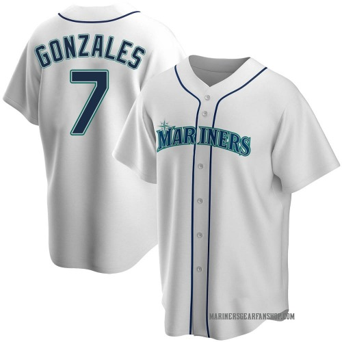 Marco Gonzales Seattle Mariners Men's Replica Home Jersey - White