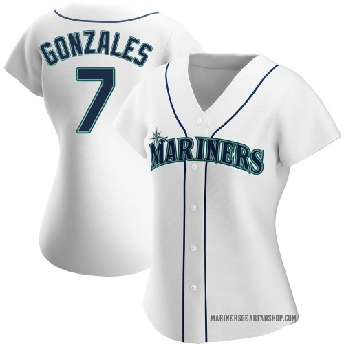 Marco Gonzales Seattle Mariners Women's Authentic Home Jersey - White