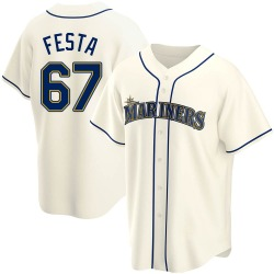Matt Festa Seattle Mariners Men's Replica Alternate Jersey - Cream