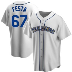 Matt Festa Seattle Mariners Men's Replica Home Cooperstown Collection Jersey - White