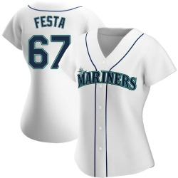 Matt Festa Seattle Mariners Women's Replica Home Jersey - White