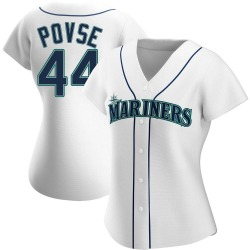 Max Povse Seattle Mariners Women's Replica Home Jersey - White