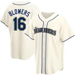 Mike Blowers Seattle Mariners Men's Replica Alternate Jersey - Cream