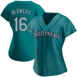 Mike Blowers Seattle Mariners Women's Replica Alternate Jersey - Aqua