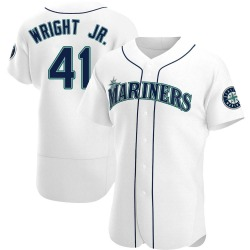 Mike Wright Jr. Seattle Mariners Men's Authentic Home Jersey - White