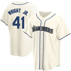 Mike Wright Jr. Seattle Mariners Men's Replica Alternate Jersey - Cream