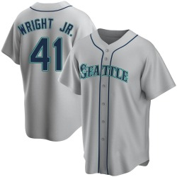 Mike Wright Jr. Seattle Mariners Men's Replica Road Jersey - Gray