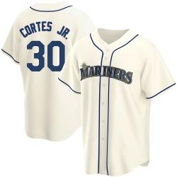 Nestor Cortes Jr. Seattle Mariners Youth Replica Alternate Jersey - Cream