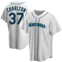 Norm Charlton Seattle Mariners Men's Replica Home Jersey - White
