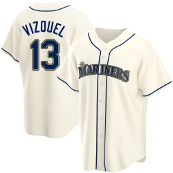 Omar Vizquel Seattle Mariners Men's Replica Alternate Jersey - Cream