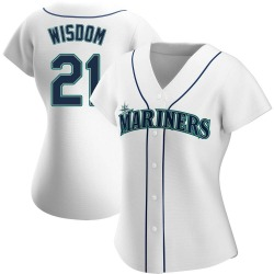 Patrick Wisdom Seattle Mariners Women's Authentic Home Jersey - White