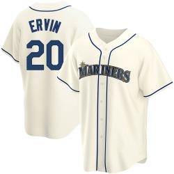 Phillip Ervin Seattle Mariners Men's Replica Alternate Jersey - Cream