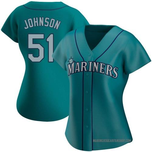 Randy Johnson Seattle Mariners Women's Authentic Alternate Jersey - Aqua
