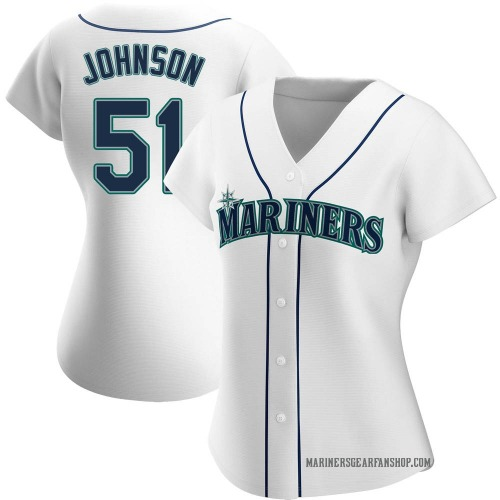 Randy Johnson Seattle Mariners Women's Authentic Home Jersey - White