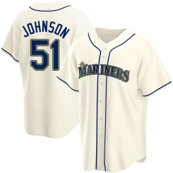 Randy Johnson Seattle Mariners Youth Replica Alternate Jersey - Cream