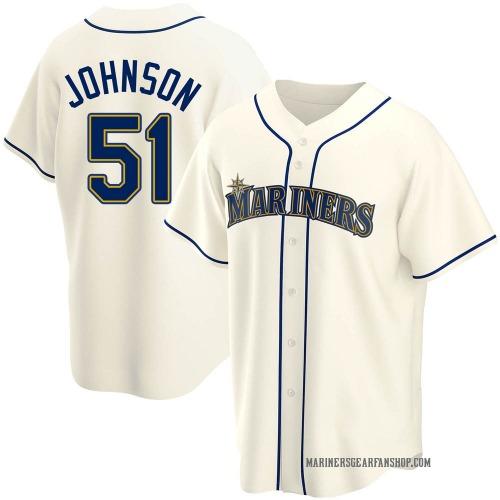 Randy Johnson Seattle Mariners Youth Replica Alternate Jersey - Cream