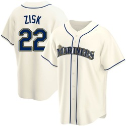 Richie Zisk Seattle Mariners Men's Replica Alternate Jersey - Cream
